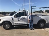 Water Meter Technician and his truck
