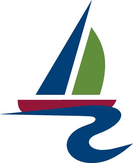 Sailboat city logo