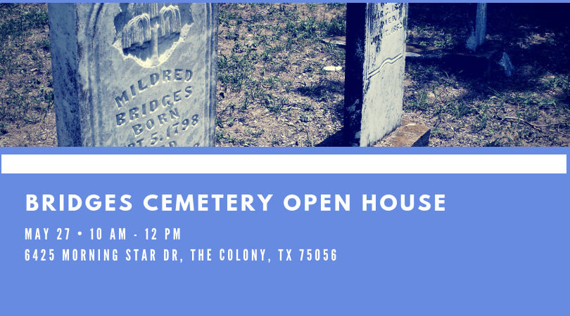 May - Bridges Cemetery Open House