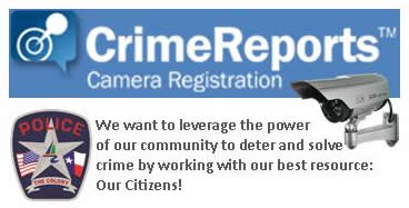 Crime Reports camera registration